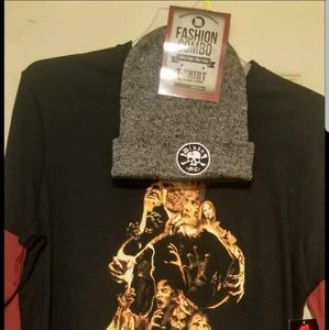 The Walking dead shirt and beanie combo